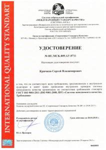 ISO 9001 Образец